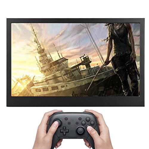 Pantalla portátil IPS de 13,3 '' 1080P, Monitor HDMI para Juegos, Interfaz HDMI Dual, Salida de Audio HD(Versión EU-Normal)