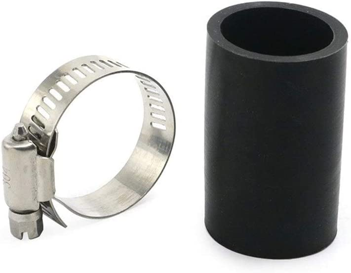 FUBANGBM 1 Id by A Round 2 Long Silica Gel High Temp Exhaust Pipe Couplings Clamps Fit for Yamaha Banshee All Years Black ATV UTV Bike Color : Black