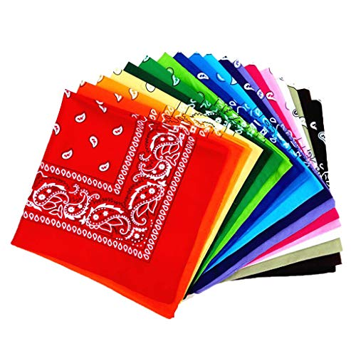 Fantastic Deal! Paisley Bandanas, Cowboy Head Scarf, Double Sided Cotton Turban Face Cover Headband ...