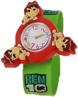 Orologio Bambino ZWRY Anime stampa rotante cartone animato per bambini rotante orologio schiaffo in silicone orologio rotondo