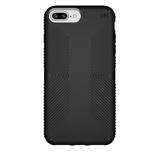 Speck Products Presidio Grip Case for iPhone 8 Plus (Also fits 7 Plus and 6S Plus/6 Plus), Black/Black