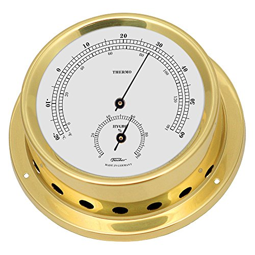Fischer Thermo-Hygrometer, Messing, 30 x 11 x 30 cm