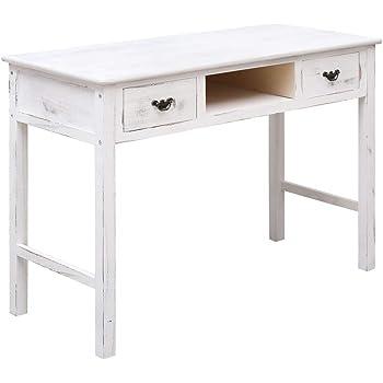 Festnight Tavolo Consolle Tavolino Consolle Ingresso in Legno Bianco 80x40x74 cm