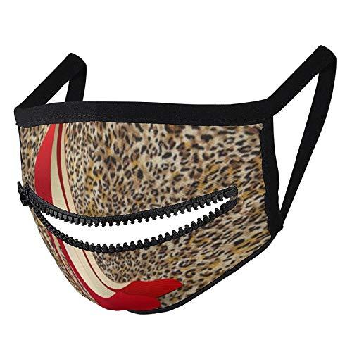 Hustor Zapatos rojos de tacón alto Cara de tela Ma_sk con cremallera reutilizable lavable pasamontañas boca Co_ver para hombres mujeres