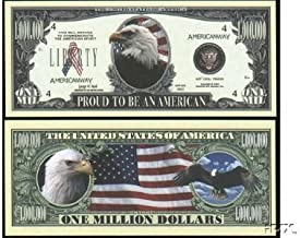 Set of 10 Bills-Proud To Be An American Million Dollar Bill