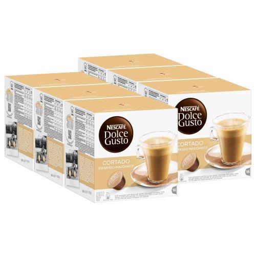 Nescafé Dolce Gusto Cortado Espresso Macchiato, 6er Pack, 6 x 16 Kapseln