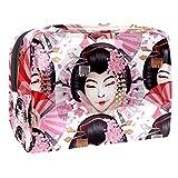 Neceser de Maquillaje Estuche Escolar para Cosméticos Bolsa de Aseo Grande Baile Tradicional japonés de geishas