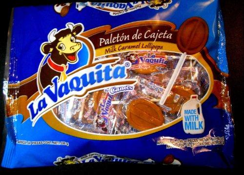 La Vaquita Milk Caramel Lollipops Mexican Candy 24 pc Paleton de Cajeta