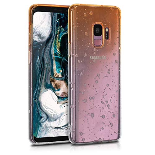 Preisvergleich Produktbild kwmobile Hülle kompatibel mit Samsung Galaxy S9 - Handyhülle - Handy Case Regentropfen Gelb Transparent