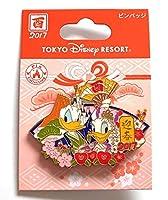 東京ディズニーリゾート TDR 2017 お正月 ピンバッジ ドナルド デイジー 着物