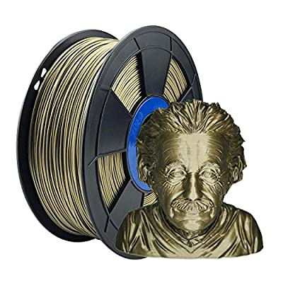 ZIRO PLA Metal Filament 1.75mm,3D Printer Filament PLA PRO Metal Bronze 1.75 1KG(2.2lbs), Dimensional Accuracy +/- 0.03mm,Bronze