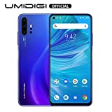 Smartphone déverrouillé 2020, UMIDIGI F2 Caméra Quad Empreinte Digitale 48MP AI, 6,53 '' FHD + Smartphone 5150mAh 6G+128GB Charge Rapide, Android 10 NFC, Noir (Blue) (Blue-1)