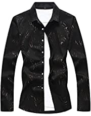 CEEN 春秋 ファション メンズ 長袖シャツ カジュアル 注目された 男性用シャツ 花柄 おしゃれ 大きいサイズ