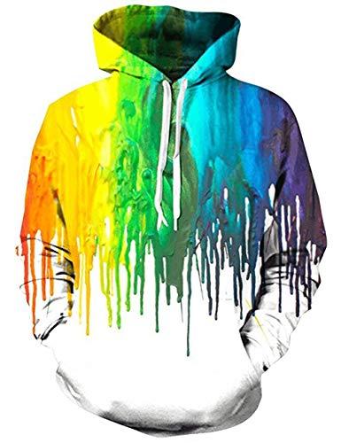 Belovecol Herren Kapuzenpullover 3D Fleece Lässig Sweatshirts Pullover Hoodie für Unisex Damen