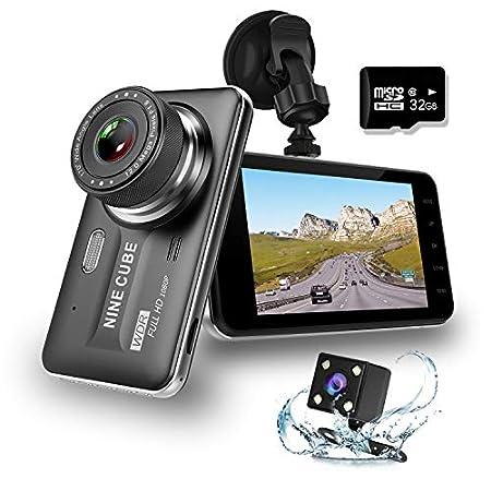 【8/24まで】NINE CUBE 前後カメラ、4インチ液晶搭載ドライブレコーダー 、32GB SDカード付きで2,399円送料無料!