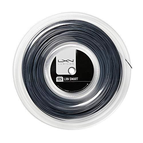 Luxilon Smart 130 Cordaje de tenis, Diámetro: 1,30 mm, Negro/blanco mate, WR8300901130