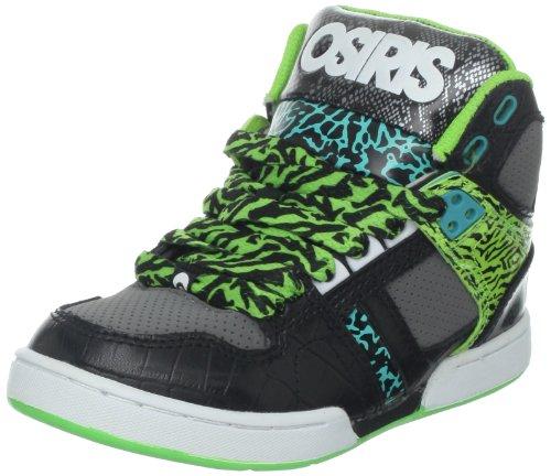 Osiris Nyc 83 Skate Shoe (Little Kid/Big Kid),Black/White,3 M US Little Kid