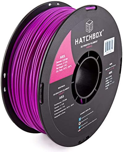 HATCHBOX ABS 3D Printer Filament Dimensional Accuracy 0 05 mm 1 kg Spool 3 00 mm Purple 3D ABS product image