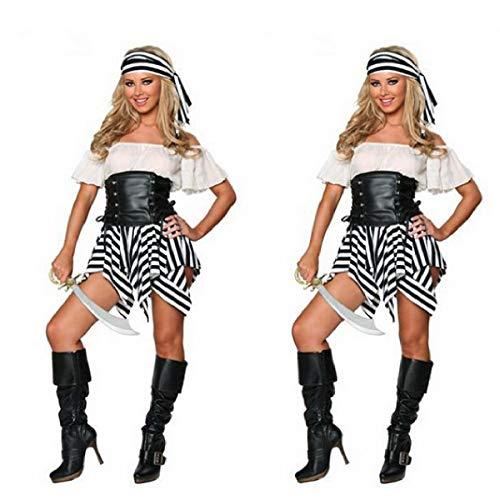 Butterfly BB Nueva Fiesta de Halloween Disfraz de Pirata del Caribe Pirata para Mujer Disfraces DS Uniformes de Juego para Europa y América