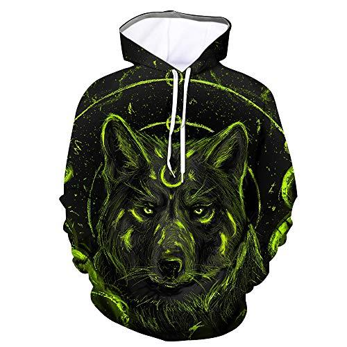 superS capsuleSXZS Unisex 3D Wolf Head Hoodie Männer Und Frauen Casual Sweatshirt Sweatshirt Pullover Top