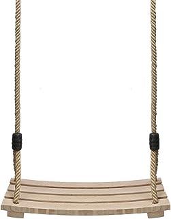 Pellor - Columpio de jardín para Adultos, niños de Madera, hasta 100 kg, con Cuerda Ajustable para Interior y Exterior