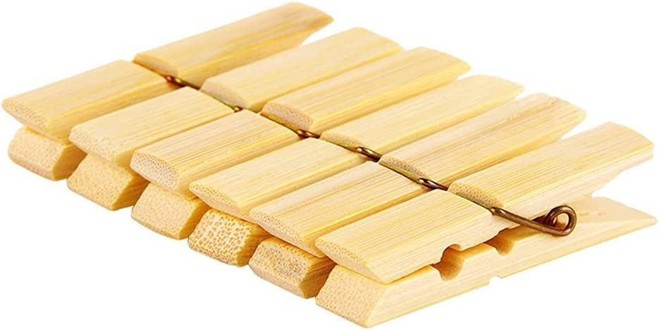shipfree DEI QI Popularity 40 Pack Wooden Clothespins 0.4 Inches Clothes 2.3X Pins