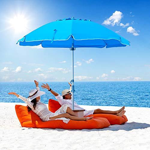 Keten 7ft Beach Umbrella with Sand Anchor & Tilt Mechanism