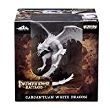 WizKids Pathfinder Battles: Deep Cuts Unpainted Miniatures: Gargantuan White Dragon
