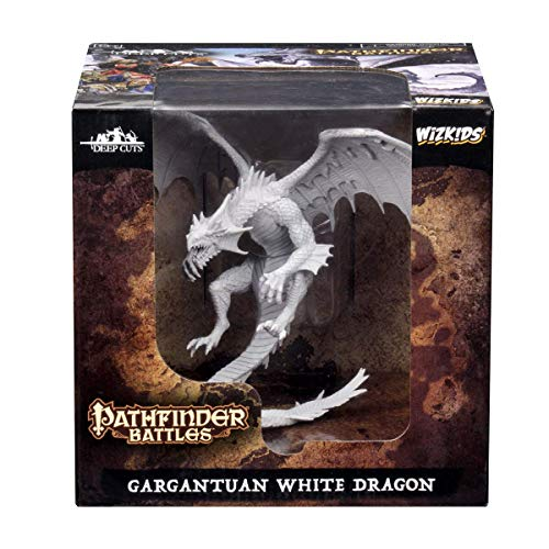 WizKids Pathfinder Battles: Deep Cuts Unpainted Miniatures: Gargantuan White Dragon (WZK73145)