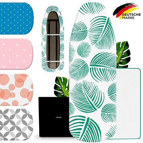VINEL® Bügelbrettbezug 120x40 für Dampfbügeleisen (100% Baumwolle, Komfort Polster) Ironing Board Cover, Bügelbrett Bezug, Bügeltischbezug für Bügelstation mit Absaugefunktion - Grün