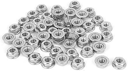 DealMux a16062700ux0745 flange porcas de 3 / 16-24 304 de aço inoxidável Hex serrilhada