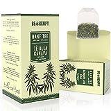 Hanf Tee Bio - 100% Natürlicher Kräuter Tee - Hanfblütentee, Nachhaltige Produkte, Entspannung und Detox - Teebeutel