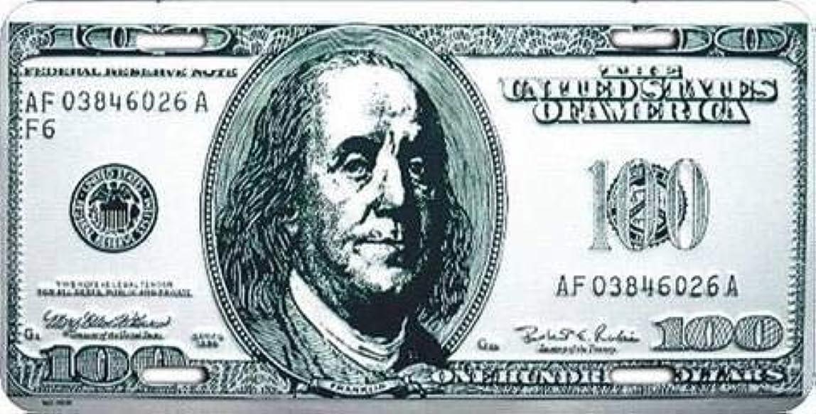 ぬいぐるみダニ遠近法なまけ者雑貨屋 $100 Bill ブリキ 看板 アメリカン ダイナー レトロ ヴィンテージ インテリア 雑貨 壁掛け