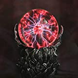 Aibote Skull Plasma Ball Night Light Lamp Touch & Sound Interactive Electric Toy Statue for Decorations Parties Bedroom