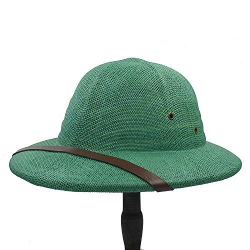 Breiter Sonnenhut, Neuheit Toquilla Stroh Sturzhelm Pith Sun Hüte Für Männer Vietnam War Army Hut Dad Boater Eimer Hüte Safari Dschungel Bergmann Cap 56-59CM Für Frauen (Farbe : 4, Größe : 56-59CM)
