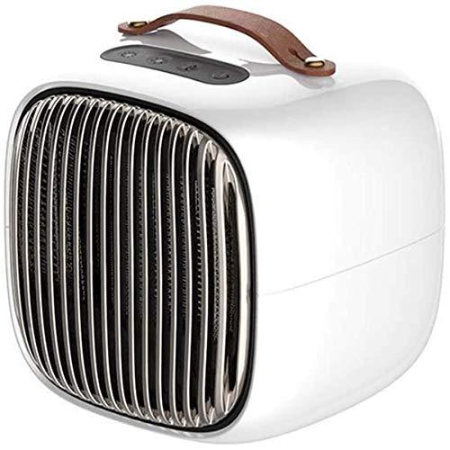 DPGPLP - Calentador eléctrico mini portátil con calefacción eléctrica, inteligente, protección de la seguridad de oficina, calefacción eléctrica, apta para la oficina en casa o en casa, color blanco
