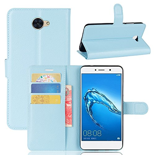 AMASELL Huawei Ascend XT2 Case, [Stand View] PU Leather Flip Wallet Cover with Card Slots Holder Folio Protective Case Cover for Huawei Ascend XT2,Blue