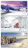 LK Trend & Style, 3 x 50 pezzi di legno di sicurezza invernale con 100 mm di lunghezza/fiammiferi con motivi invernali