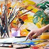 Arteza Acrylfarben, Set mit 12 Tuben, 22 ml Malfarbe pro Tube, hochwertige Acryl-Künstlerfarbe, zum Malen auf Leinwänden - 6