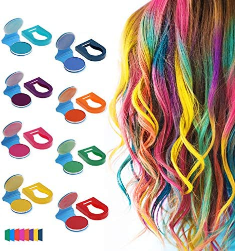 Hair Chalk Powder for Girls Washable Non stick Pastel Hair Dye Color Set for Teens Kids Gifts product image