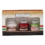 YANKEE CANDLE 1521565Regalo Set 3pequeñas Jars Cristal, Multicolor, 6x 6x 8.9cm