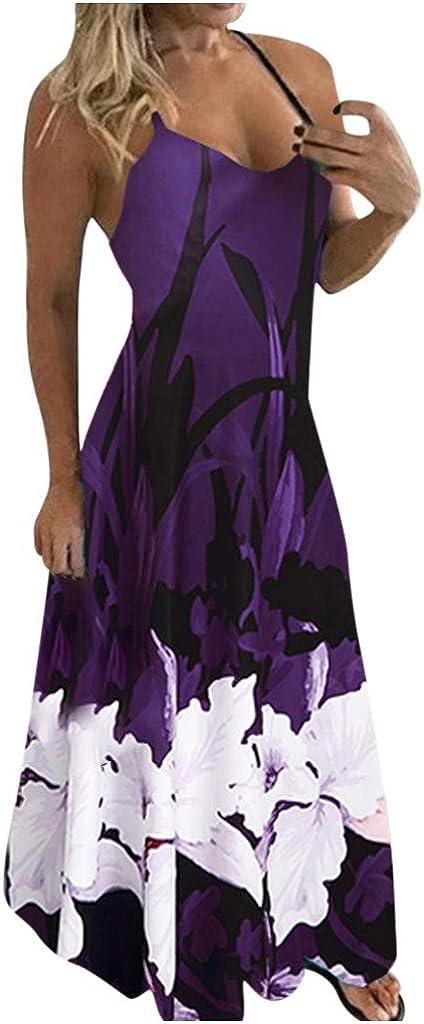 VEZAD Plus Size Women Tie-Dye Boh Printed Stitching Dress Stripe Fashion Limited time cheap sale