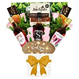 The Rosé Wine Collection & Chocolate Thank You Bouquet Gift Hamper in Presentation Box (3 x