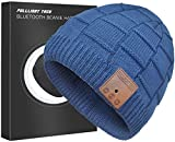 Upgraded Bluetooth Beanie Hat with Headphones Unique Tech Gifts (Denim Blue)