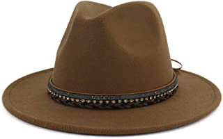 KFEK New Woolen Autumn and Winter Hats Female Flat Big Gentleman Jazz hat