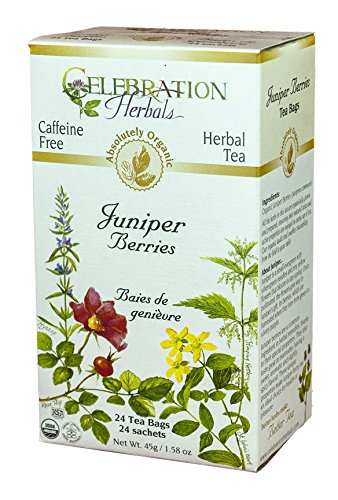 CELEBRATION HERBALS Juniper Berries Tea Organic 24 Bag, 0.02 Pound