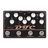 ammoon multieffetto chitarra effetti a pedale per chitarra elettrica dtc 4-in-1 distorsione + overdrive + loop + ritard