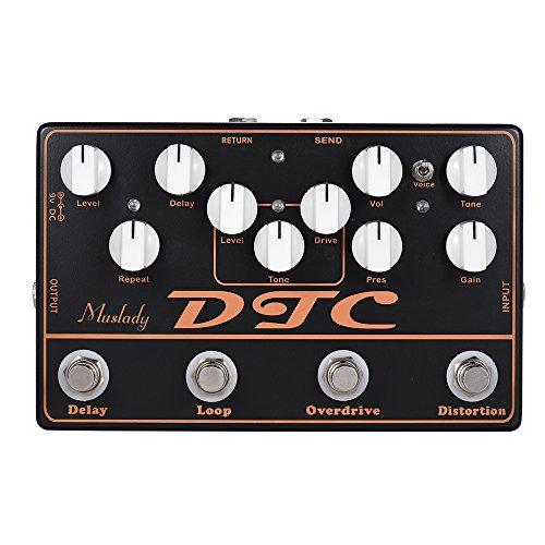 ammoon DTC Pedal de efectos de guitarra eléctrica 4-en-1 Distorsión + Sobremarcha...