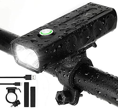 Aocase Conjunto de luz de Bicicleta LED Lighting PERMITIDA Lighting, 3 Modos DE LUZ Y Modo DE Sensor Inteligente Lámpara de Bicicleta, luz de Bicicleta Impermeable IPX5 con luz Frontal