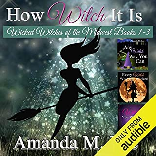 How Witch It Is     Wicked Witches of the Midwest, Books 1-3              By:                                                                                                                                 Amanda M. Lee                               Narrated by:                                                                                                                                 Aris                      Length: 18 hrs and 59 mins     347 ratings     Overall 4.3